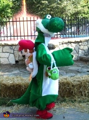 Yoshi & Mario - Homemade costumes for kids