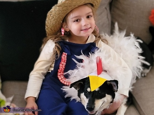 Young MacDonald and her Chicken Costume