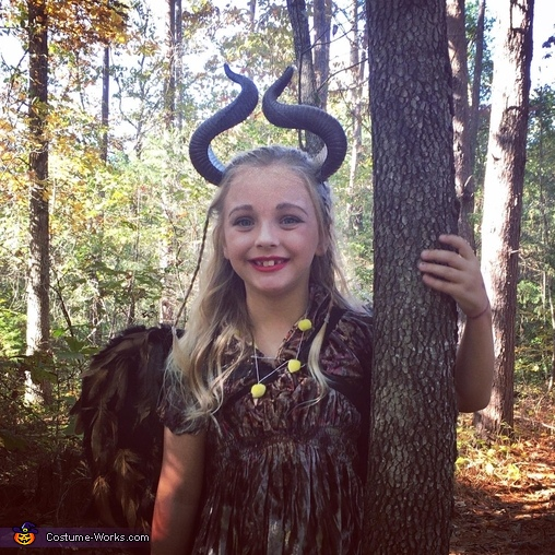 Young Malefienct in the Woods, Young Maleficent Costume