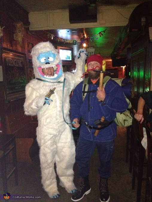 On the town in Baltimore., Yukon Cornelius and the Abominable Snowman Costume