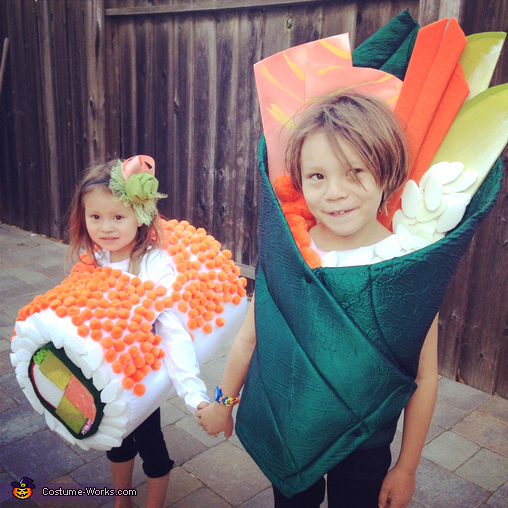 Yum Yum Sushi Kids Costume