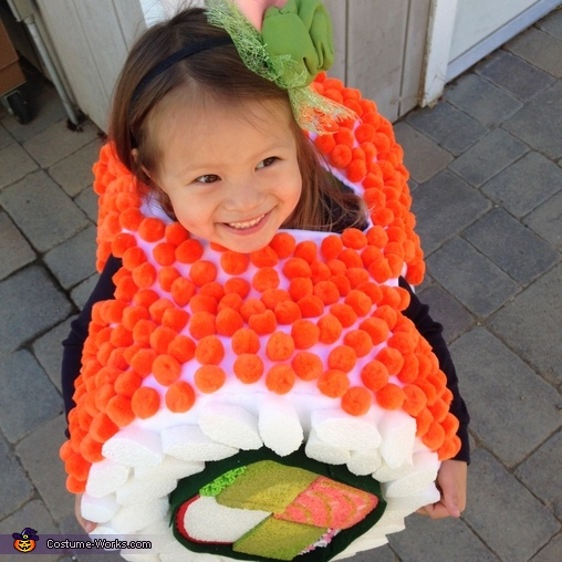 Yum Yum Sushi Kids Homemade Costume