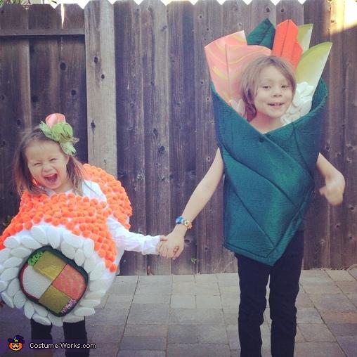 Yum Yum Sushi Kids Homemade Costume