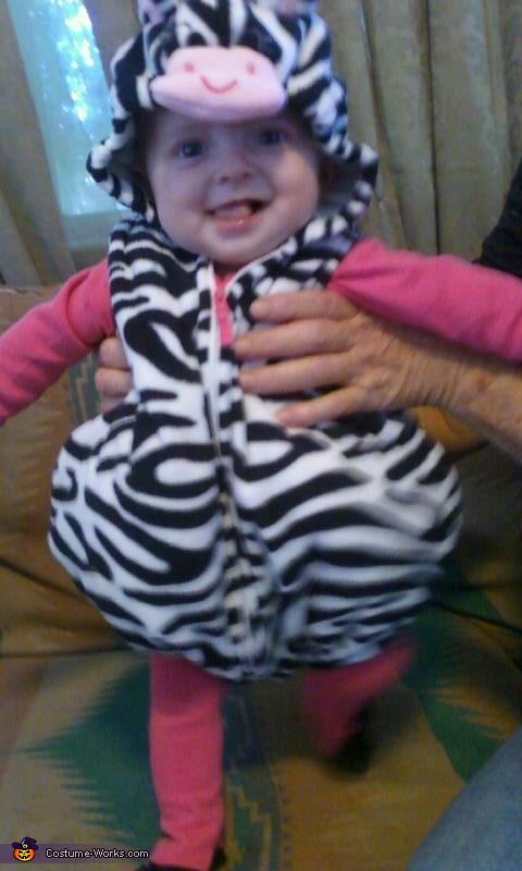 Don't I just look soooo cute?, Cute Zebra Baby Costume