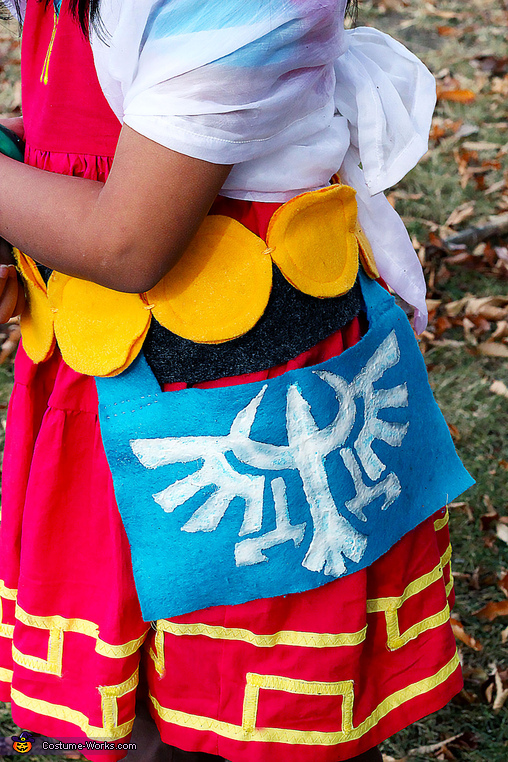 this is the sash with the hand painted symbol, DIY Zelda Costume