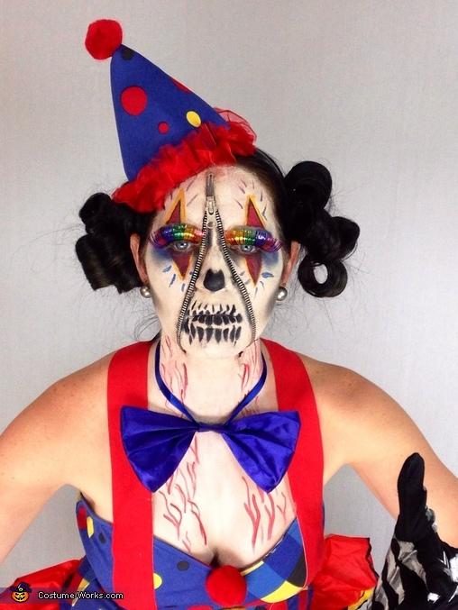 Zipper Clown Homemade Costume