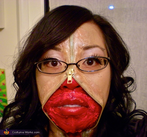 Zipper Face - Homemade costumes for women