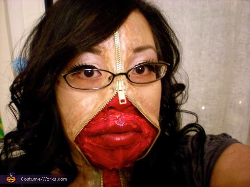 Zipper Face 2. Zipper Face - Homemade costumes for women