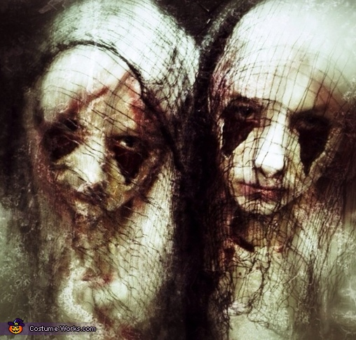 Snapseed edit of the twins , Zipper Face Costume