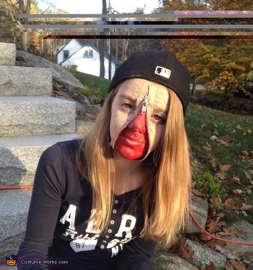 Zipper Face Costume