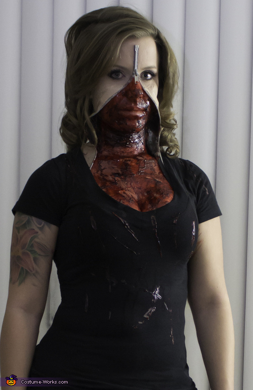 Zipper Face Creepy Halloween Costumes