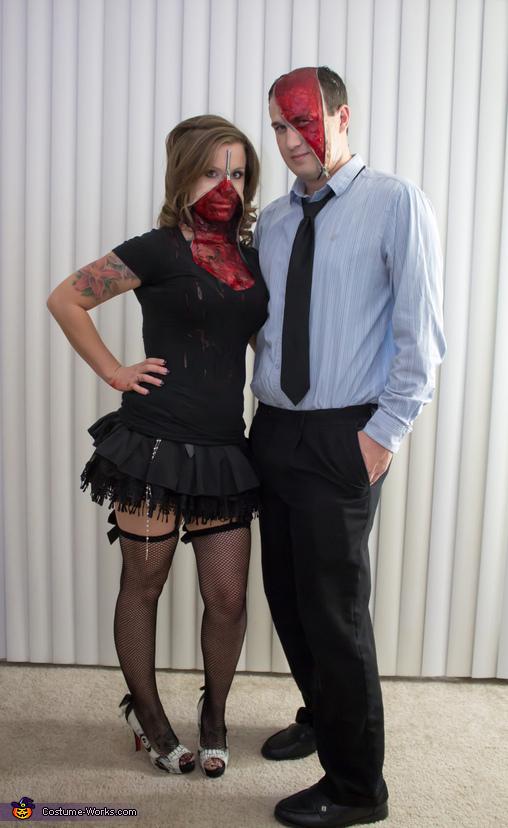 Zipper Face Couple Costume