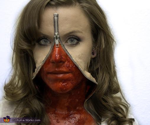 Zipper Face Creepy Halloween Costumes