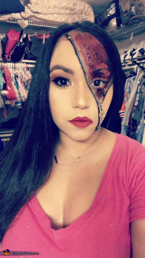 Zipper Face Beauty Costume