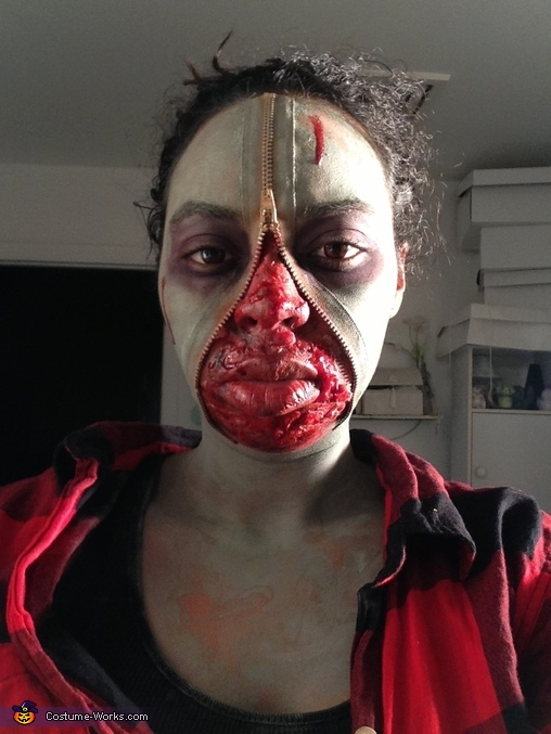 Zipper Face Zombie Costume