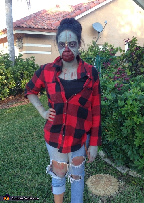 sc 1 st  Costume Works & Zipper Face Zombie Costume