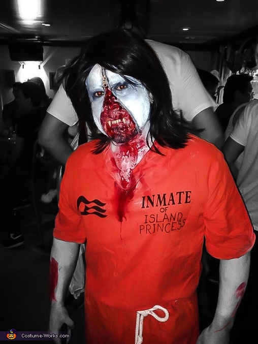 Zipper Faced Zombie Costume