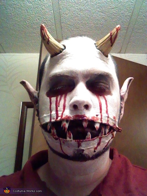 Zipper Mouth Demon Costume