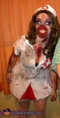 Zipper Zombie Nurse Costume Coolest Diy Costumes Photo 3 4