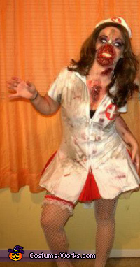 Halloween 2012 Zipper Zombie Nurse, Zipper Zombie Nurse Costume
