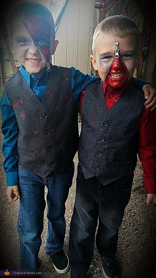 Zipperface Boys Homemade Costume