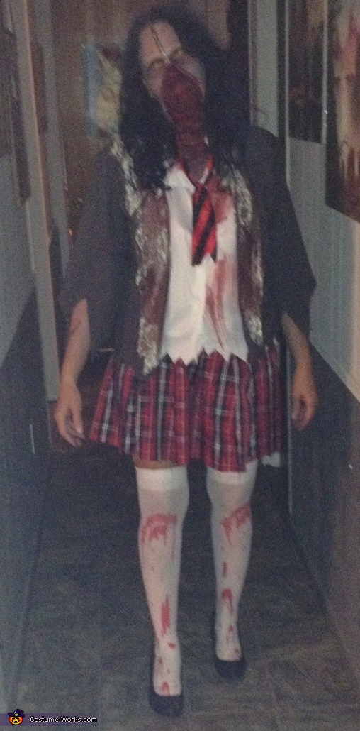 Zipperface School Girl Homemade Costume