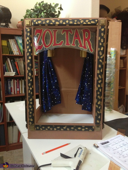 Zoltar, the Fortune Telling Machine Homemade Costume