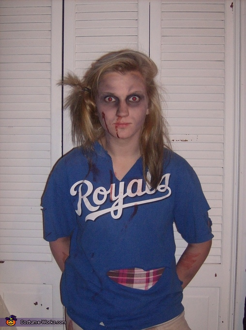 Zombie Softball Player - Homemade costumes for girls