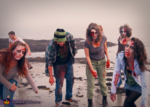 Zombies coming from the water!!, Zombie! Costume