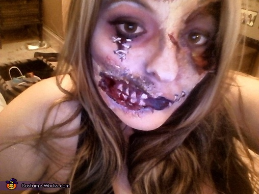 Zombie Costume and Makeup