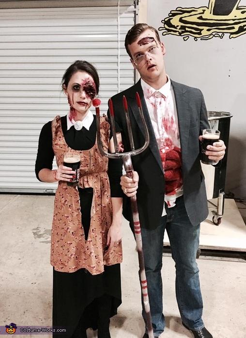 Zombie American Gothic Costume