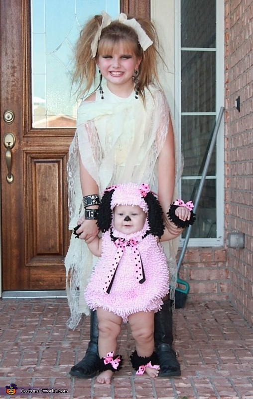 Zombie and Poodle Costumes