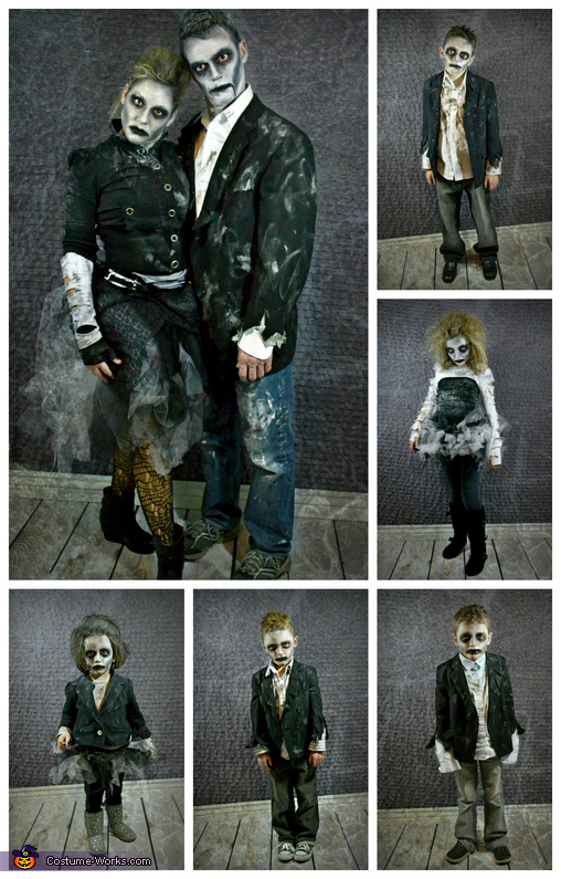 The Zombie Family, Zombie Apocalypse Family Costume