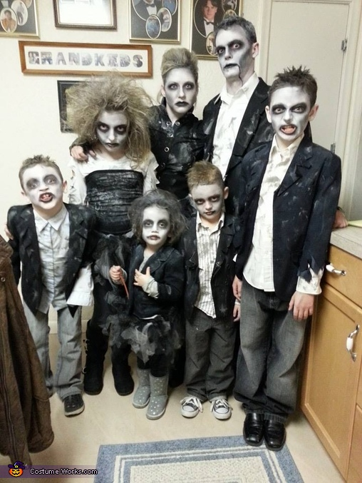 Zombie Apocalypse Family Costume