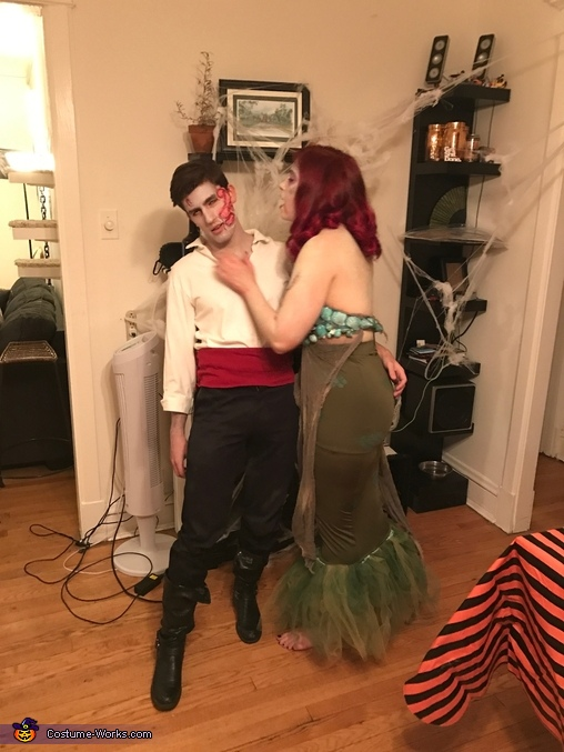 Zombie Ariel and Prince Eric Homemade Costume