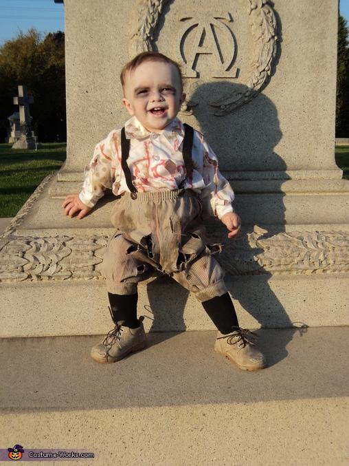 DIY Zombie Baby Costume