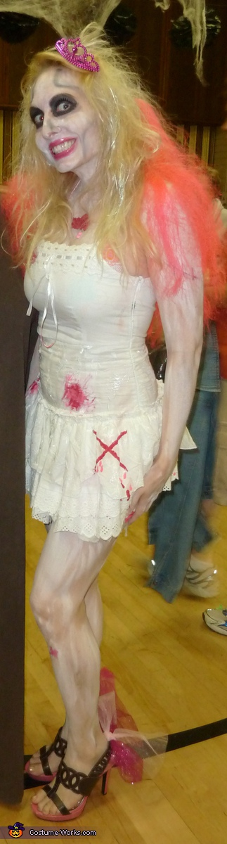 Homemade Zombie Barbie Costume