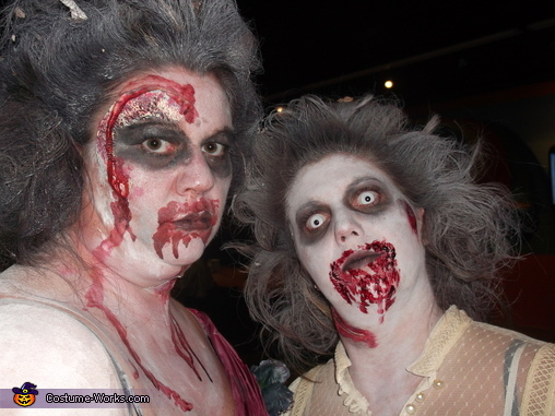my sister an i up close, Zombie Bridal Party Costume