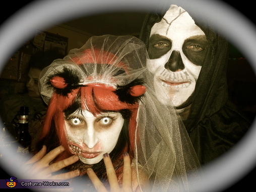 Zombie Bride & Her Partner Skeleton, Zombie Bride Costume