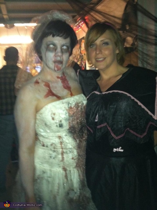 I'm on the left, Zombie Bride Costume