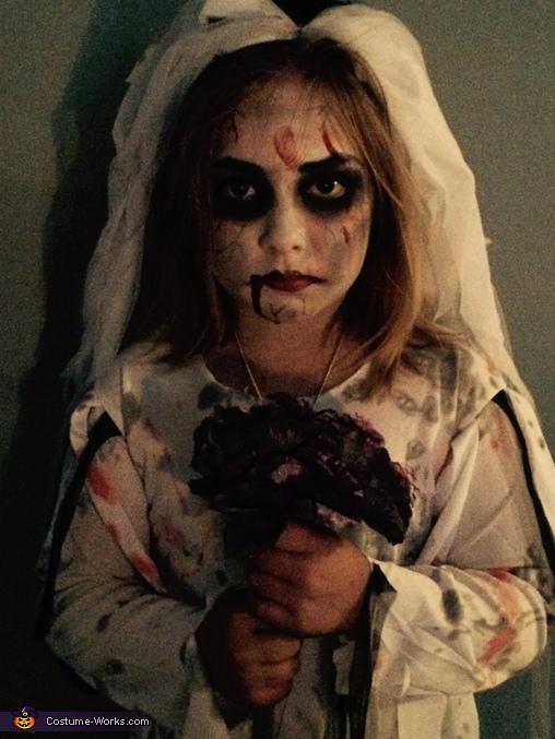 Dark frontal view, Zombie Bride Costume