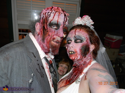 close up, Zombie Bride and Groom Costume