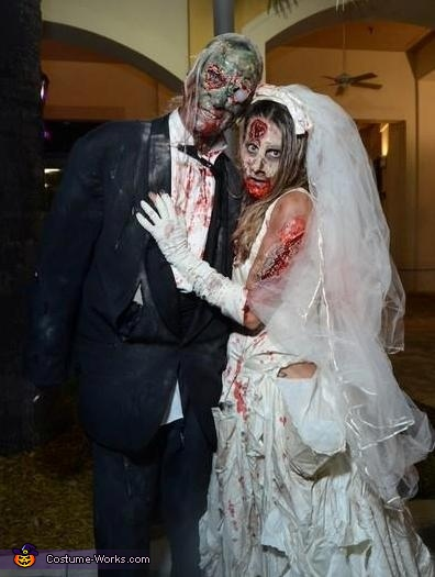 Zombie Bride and Groom Costume