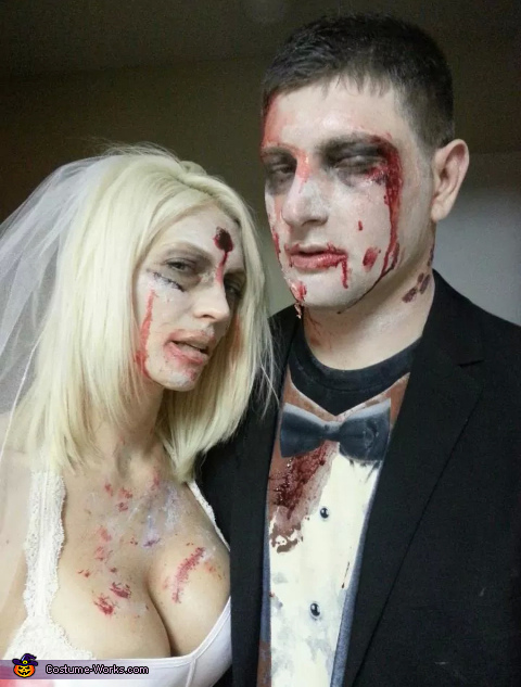 our wedding photograph, Zombie Bride & Groom Costume