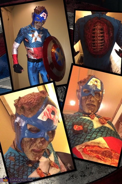 Zombie Captain America Halloween Costume