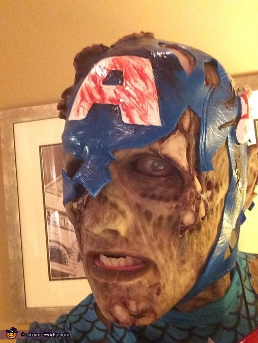 Zombie Captain America Halloween Costume
