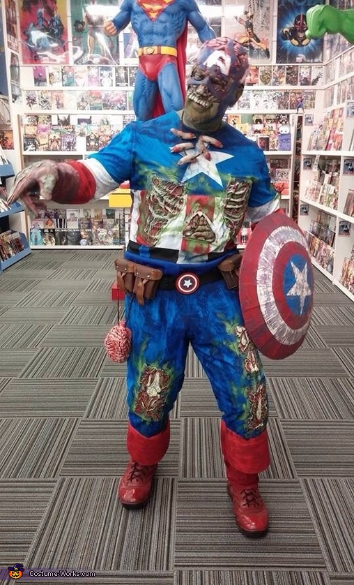 Zombie Captain America Costume