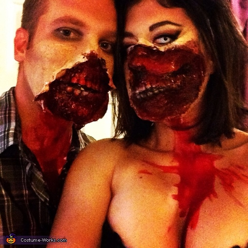 Dearly Re-Departed Zombie Couple Costume