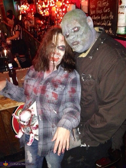 Zombie Couple with Baby Costume