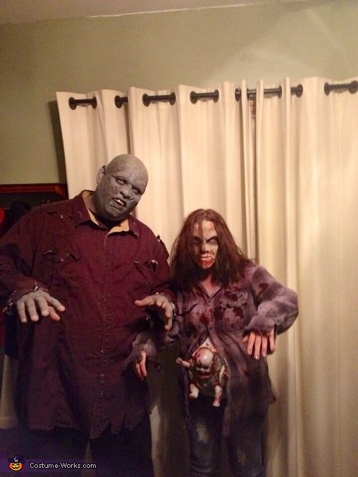 Zombie couple with baby, Zombie Couple with Baby Costume